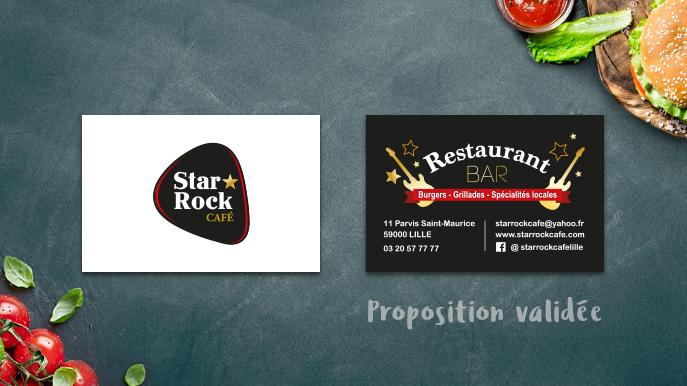 Cartes de visite pour le Star Rock Café de Lille