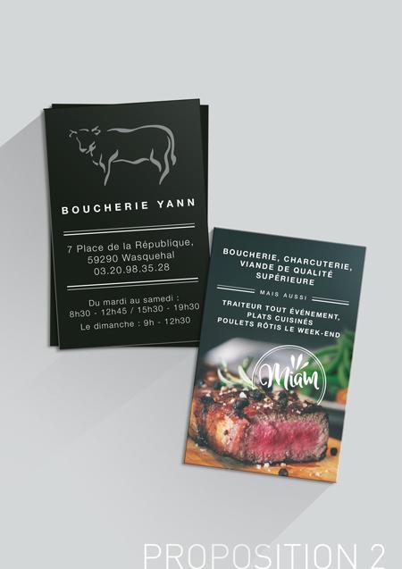 Cartes De Visite Pour La Boucherie Yann