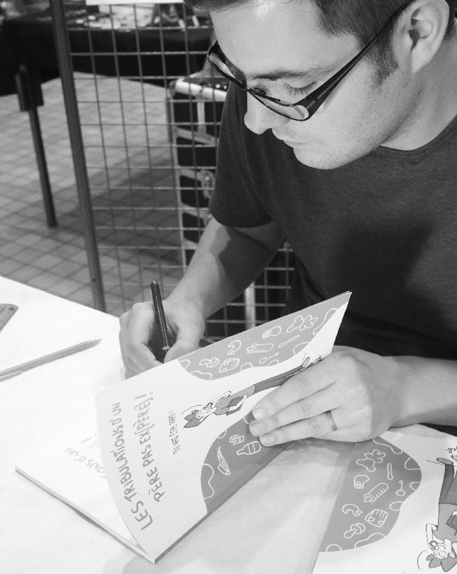 GEB, auteur et illustrateur des tribulations d'un père pas ex(père)