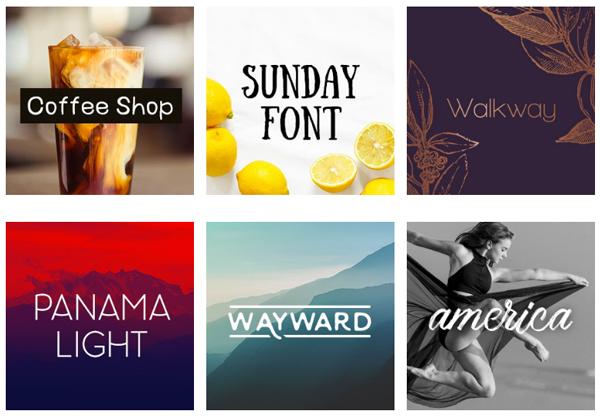 Typographies gratuites