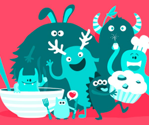 Webdesign du site web Monster Baker