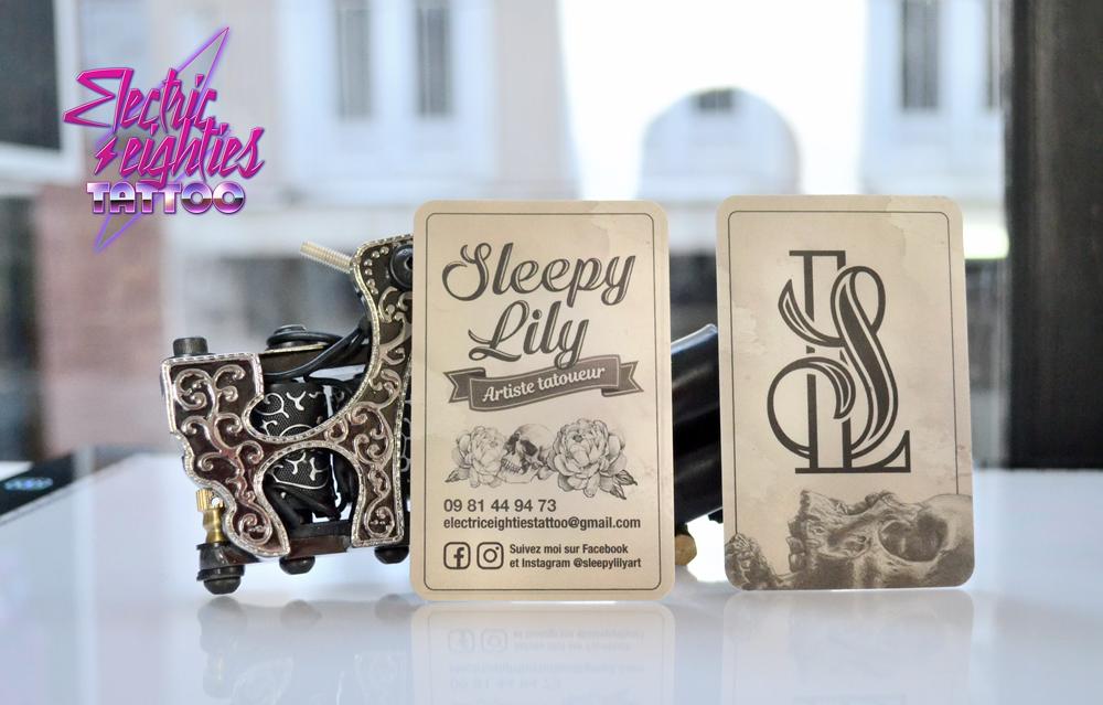 Cartes de visite Sleepy Lily