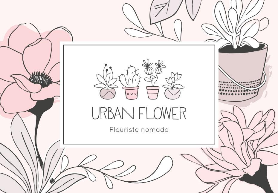 Nouvelle identité graphique pour Urban Flower, fleuriste nomade - Lille