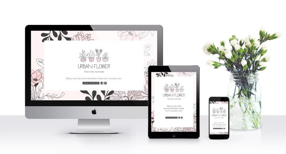 Site web de la nouvelle identité graphique pour Urban Flower, fleuriste nomade - Lille