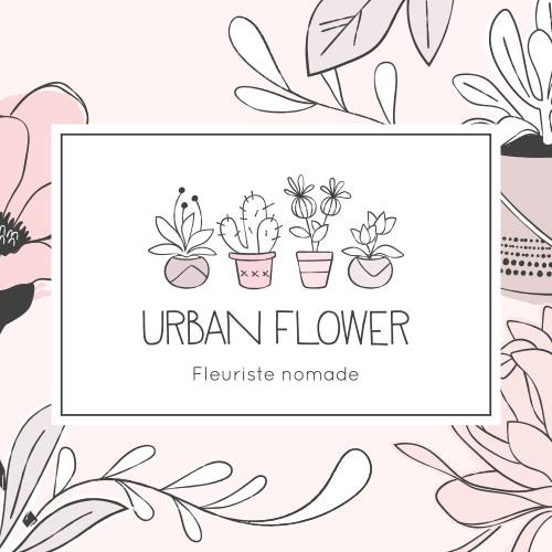Logo Urban Flower, fleuriste nomade - Lille