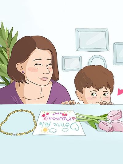 Illustration fête des mères