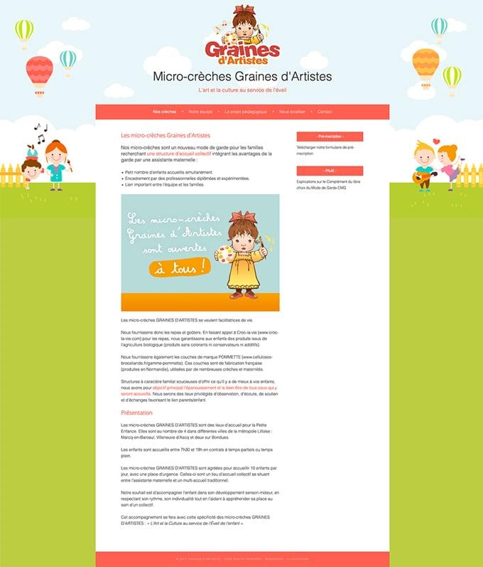 Site web Graines d'Artistes