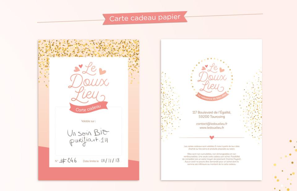 Carte cadeau Le Doux Lieu, massages pour maman et bébé