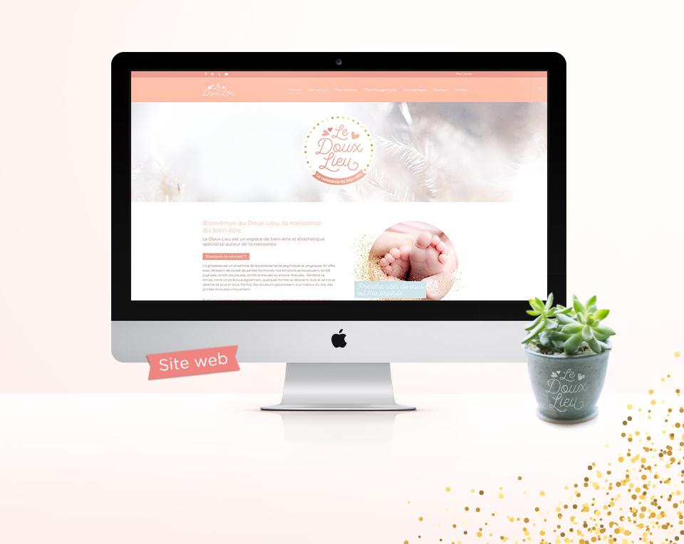 Site Web Le Doux Lieu, la naissance du bien-être