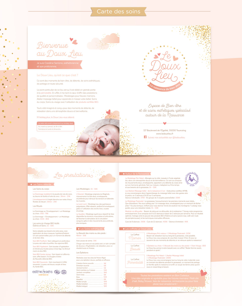 Carte de soins Le Doux Lieu, la naissance du bien-être