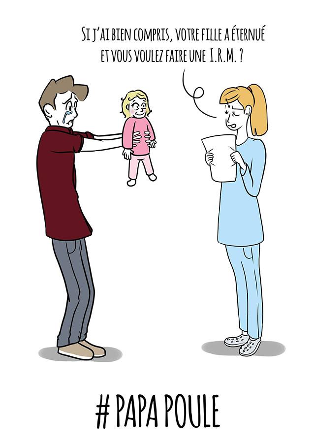 Extrait des tribulations d'un père pas ex(père) par l'illustrateur GEB