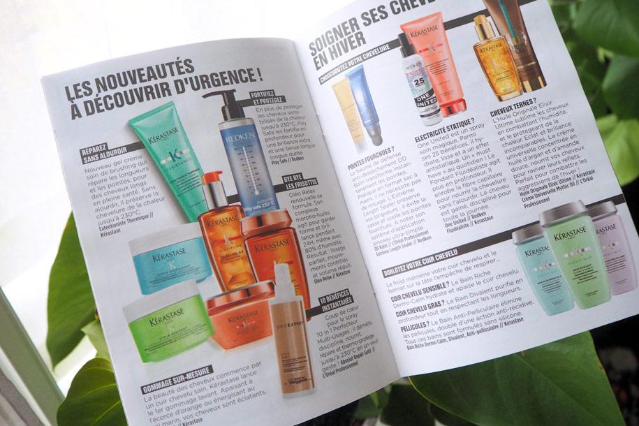 Mise en page du magazine Top Shampoo
