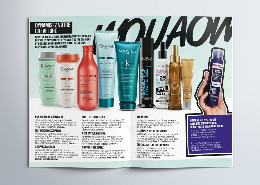 Extrait du magazine Top Shampoo / Collection Automne-Hiver 2018-2019