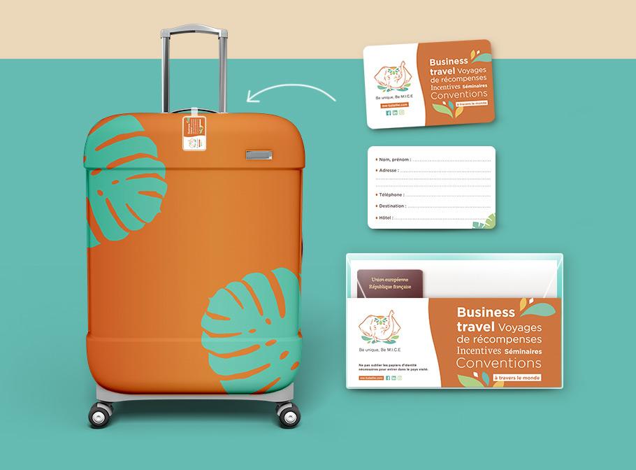 Étiquette valise personnalisée