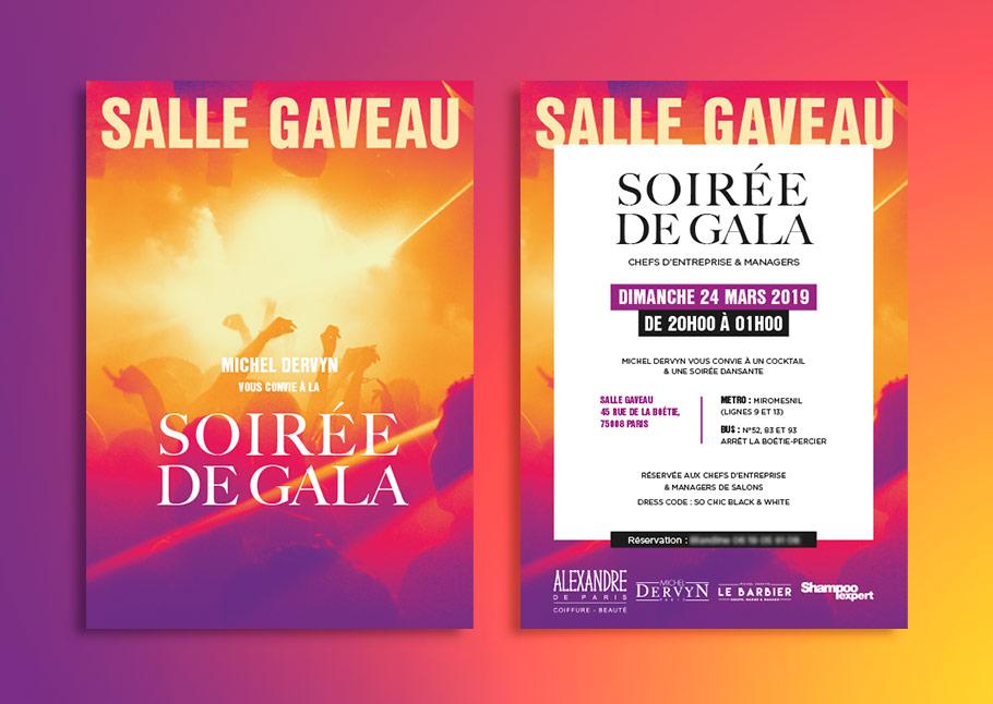 Flyers soirée de gala salle Gaveau, Paris