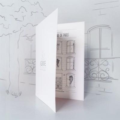 Carte de vœux originale Alexandre de Paris